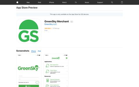 GreenSky Merchant on the AppStore