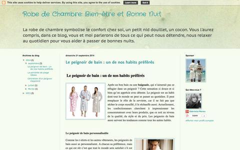 Screenshot of Home Page robe-de-chambre.fr - Robe de Chambre - captured Sept. 30, 2014