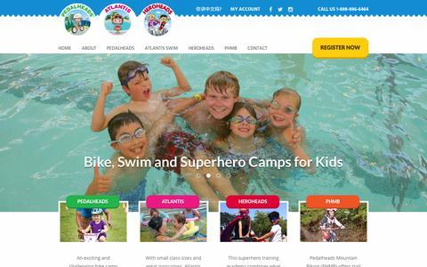 Screenshot of Home Page pedalheads.com - Atlantis Programs & Pedalheads® - captured Oct. 28, 2016