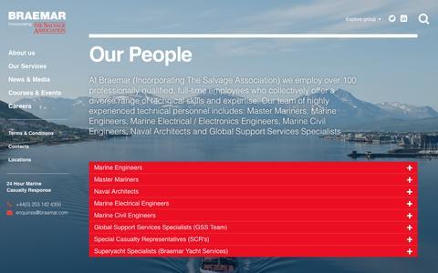 Screenshot of Team Page braemarsa.com - Our People | BraemarSA - captured Nov. 23, 2016