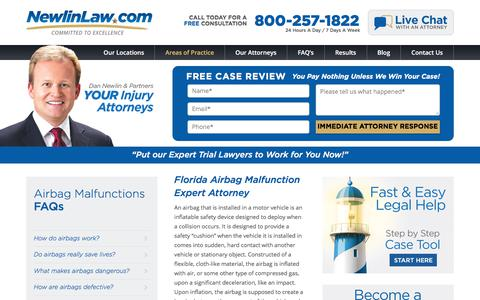 Florida Airbag Malfunction Attorney - Dan Newlin - Recovered Millions