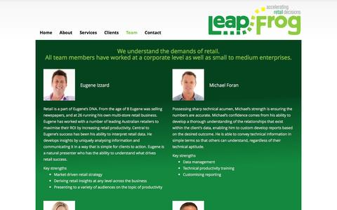 Screenshot of Team Page leapfrogretail.com.au - Team - LeapFrog - captured Dec. 8, 2015