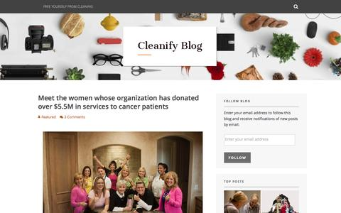 Screenshot of Blog cleanify.com - Cleanify Blog – Featuring articles about the cleaning industry, interviews with local cleaning companies, showcasing businesses that give back to the community, and updates about what we're working on. - captured April 9, 2016