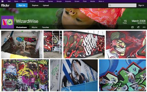 Screenshot of Flickr Page flickr.com - Flickr: WizardWise's Photostream - captured Oct. 25, 2014