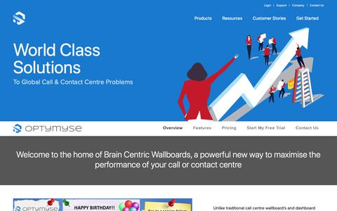 Screenshot of Products Page sjssolutions.com - Optymyse | SJS Solutions - captured Nov. 5, 2018