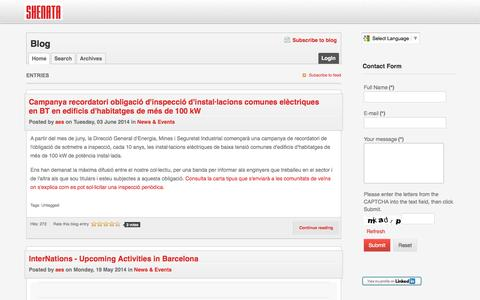 Screenshot of Blog shenata.com - Shenata - captured Oct. 6, 2014