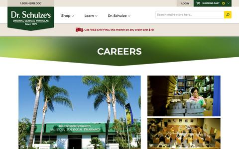 Careers & Job Openings at Dr. Schulze's American Botanical Pharmacy