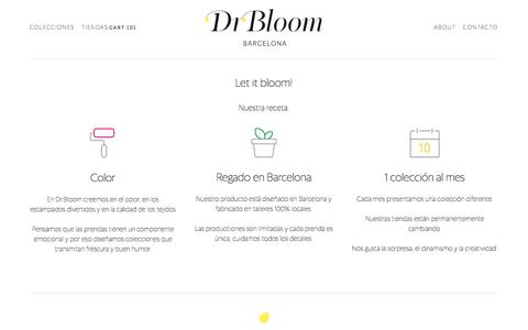 Screenshot of About Page drbloom.es - About — Dr.Bloom - captured Aug. 2, 2016