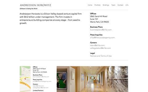 Contact | Andreessen Horowitz