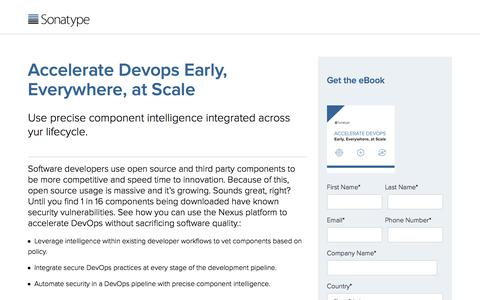 Accelerate DevOps Early, Everywhere, at Scale | Sonatype