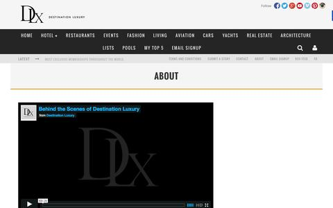 Screenshot of About Page destinationluxury.com - About - Destination Luxury - captured Sept. 19, 2014