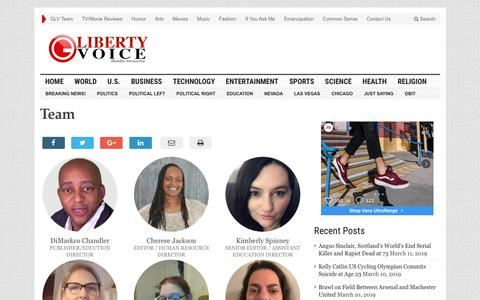 Screenshot of Team Page guardianlv.com - Team – Guardian Liberty Voice - captured March 11, 2019