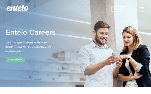 Screenshot of Jobs Page entelo.com - Careers | Entelo - captured Oct. 9, 2017