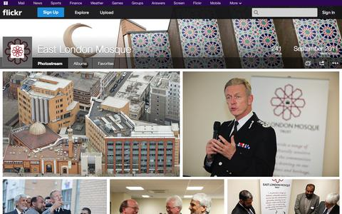 Screenshot of Flickr Page flickr.com - Flickr: East London Mosque's Photostream - captured Oct. 28, 2014