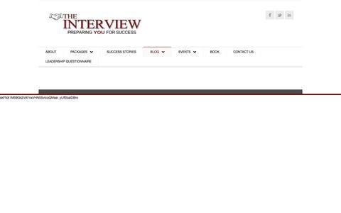 Screenshot of Blog theinterview.org.uk - Blog | The Interview - captured Oct. 25, 2017