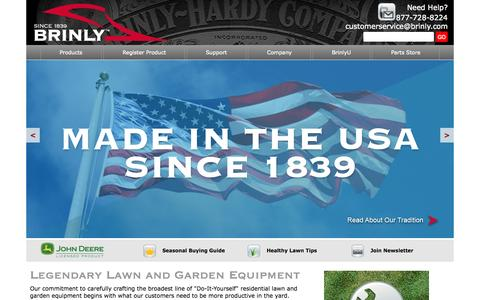 Screenshot of Home Page brinly.com - Brinly Lawn and Garden Attachments | Brinly-Hardy Lawn Care Equipment - captured Oct. 25, 2015
