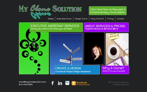 Screenshot of Home Page myclonesolution.com - My Clone Soultion - captured Sept. 30, 2014