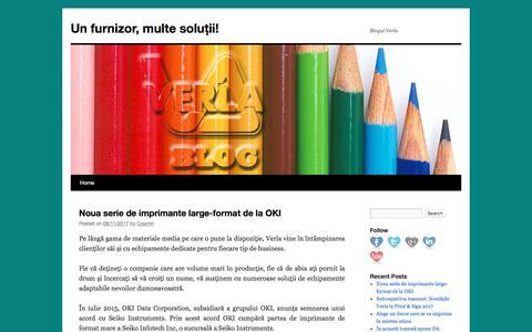 Screenshot of Blog verla.ro - Un furnizor, multe soluții! | Blogul Verla - captured Nov. 13, 2017
