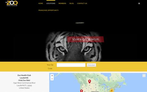 Screenshot of Locations Page zoogym.com - The Zoo Health Club Locator - gym locator - health club locator - fitness center locator | The Zoo Health Club - captured Oct. 25, 2017