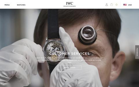 Screenshot of Services Page iwc.com - IWC Services | IWC Schaffhausen - captured May 13, 2019