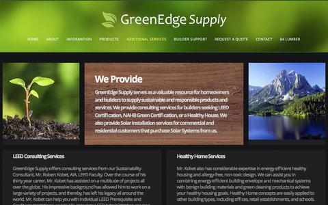 Screenshot of Services Page greenedgesupply.com - GreenEdge Supply - Additional Services - captured Dec. 15, 2015