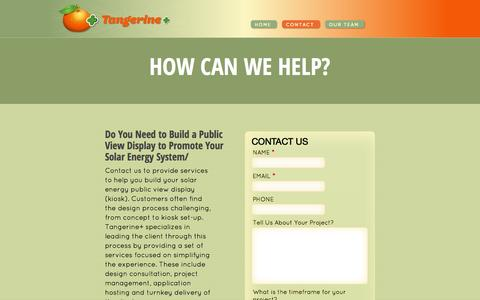 Screenshot of Contact Page tangerine-plus.com - HOW CAN WE HELP? « Tangerine+ - captured Oct. 26, 2014