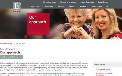 Our approach – Edwards – Sustainability