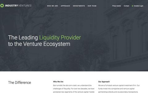 Industry Ventures – The Leading Liquidity Provider for the Venture Ecosystem