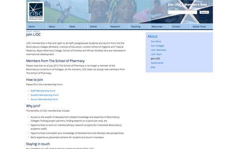 Screenshot of Signup Page lidc.org.uk - Join LIDC | LIDC - London International Development Centre - captured Oct. 2, 2014