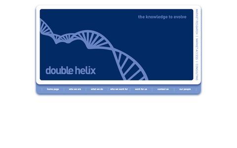 Screenshot of Home Page doublehelixdevelopment.com - Double Helix Development: Pharmaceutical strategic market research - captured Oct. 5, 2014