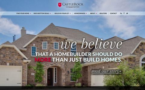 Screenshot of Home Page About Page c-rock.com - Homes for Sale Houston TX | Best Real Estate | CastleRock Communities - captured Oct. 2, 2014