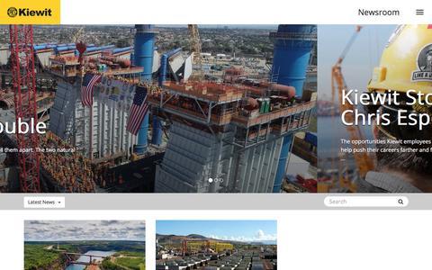 Screenshot of Press Page kiewit.com - Kiewit Newsroom - captured Aug. 12, 2019