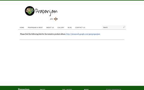 Screenshot of Products Page prapanjam.in - Product Gallery | Prapanjam - captured Sept. 30, 2014