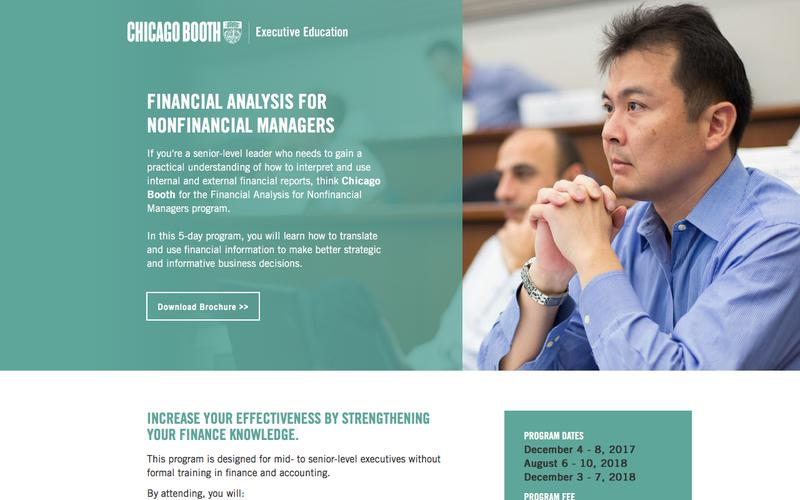 Executive Education at Chicago Booth | Financial Analysis for Nonfinancial Managers