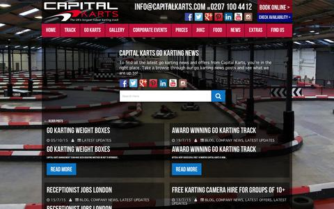 Screenshot of Press Page capitalkarts.com - Go Karting News - Capital Karts - captured Dec. 7, 2015