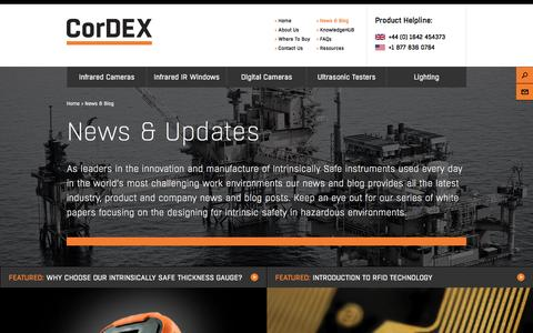 Screenshot of Press Page cord-ex.com - News & Blog - Cordex - captured Jan. 31, 2016