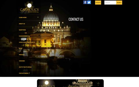Screenshot of Contact Page catholicscomehome.org - Contact | Catholics Come Home - captured July 19, 2015