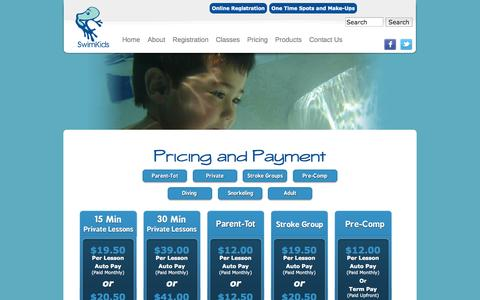 Screenshot of Pricing Page swimkids.biz - Pricing and Payment   SwimKids - captured Oct. 6, 2014