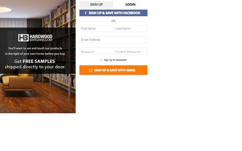Screenshot of Signup Page hardwoodbargains.com - Create New Customer Account - captured Dec. 7, 2015