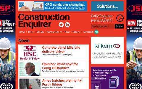 Screenshot of Press Page constructionenquirer.com - News Ι   Construction Enquirer - captured Dec. 12, 2015