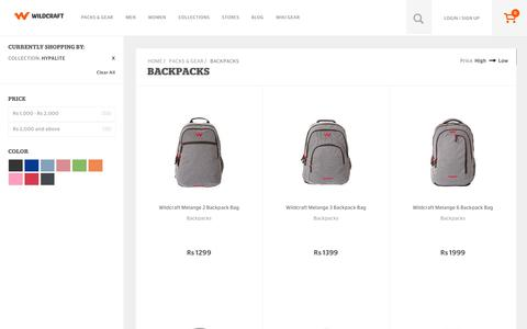 Screenshot of wildcraft.in - Buy Wildcraft Backpacks Bags Online for Men and Women - captured March 19, 2016