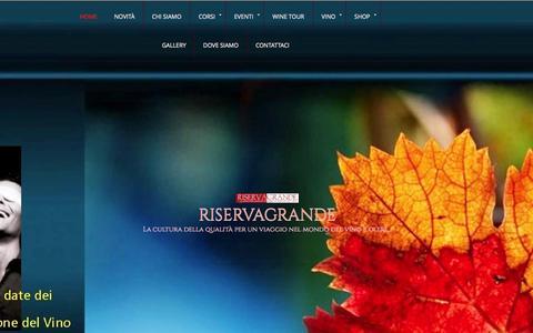 Screenshot of Home Page riservagrande.com - Riserva Grande - captured Oct. 1, 2014