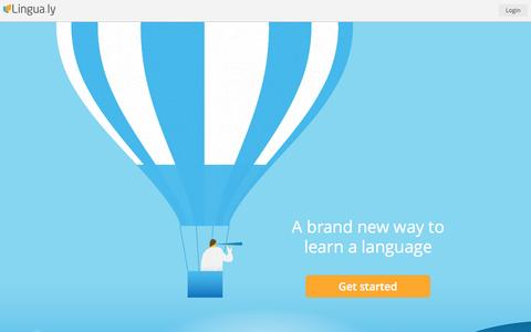Screenshot of Home Page lingua.ly - Lingua.ly | A brand new way to learn a language - captured Jan. 15, 2015