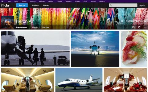 Screenshot of Flickr Page flickr.com - Flickr: Heron Air's Photostream - captured Oct. 22, 2014