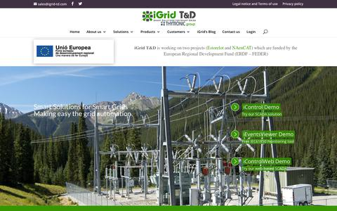 Screenshot of Home Page igrid-td.com - Substation automation systems & Grid solutions | iGrid - captured Oct. 13, 2018