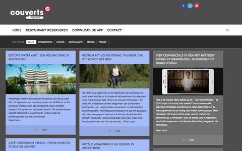 Screenshot of Blog couverts.nl - Home - Couverts Inspiratie - captured Oct. 30, 2014
