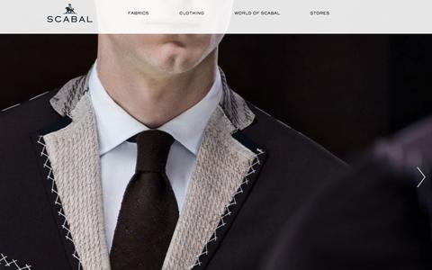 Screenshot of Home Page scabal.com - Scabal – Fine Fabrics Since 1539, Made-To-Measure Menswear From 1938. - captured Sept. 10, 2015