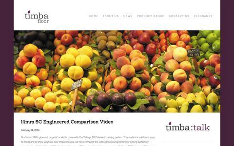 Screenshot of Press Page timbafloor.com - News — Timba Floor - captured Sept. 30, 2014