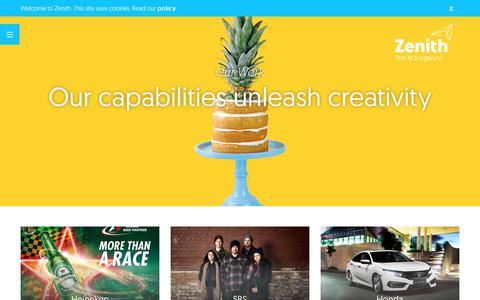 Screenshot of Case Studies Page zenithmedia.com.au - Our Work - Zenith Market - captured Nov. 24, 2017