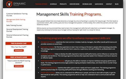 Screenshot of Team Page trainbook.co.za - Management skills and Leadership skills training   Dynamic Seminars - captured Oct. 5, 2014